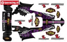 TPSBAJA-P TPS Stickers HPI-Rovan Baja Paars, Set