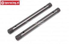 HPI102214 Spoiler houder pen Gun Metal, 2 st.