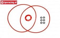 HPI105400 Servo behuizing O-ring HPI SFL-11MG, Set