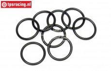 HPI75072 O-ring schokdemper instel ring, 8 st.