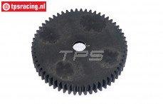 Tandwiel TPS, (57T), (Nylon, HPI85432), 1 st.