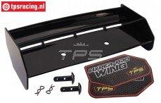 TPS85451/10 Nylon Achterspoiler Zwart HPI-ROVAN, Set