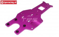 HPI87416 Chassis plaat achter onder Paars, 1 st.