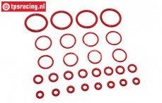 TPS75070/10 Schokdemper Siliconen O-Ring HPI-Rovan, Set