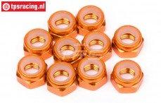 HPIZ868 Aluminium borgmoer M4 Oranje, 10 St.