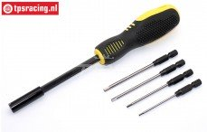 TPS0280/12 HSS Inbus pennen met magnetische bit houder, Set