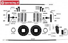 FG8452 Kabel schijfremmen achter, 2WD/4WD, Set