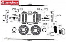 FG10453 Tuning Kabel schijfremmen achter, Formule 1, Set
