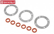 LOS242036 Differentieel pakking-O-ring LMT Truck, set.