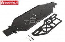 LOS251050 LOSI chassis met plaat, 4 mm zwart DBXL-E, set