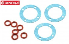 LOS252097 LOSI 5T 2.0 Differentieel pakking/O-ring, Set