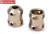 LOSB3221 Aluminium Aandrijf as koppelstuk 5T-5B-MINI-BWS, 2 st.