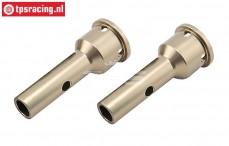 LOSB3223 Wiel as aluminium 5T-5B-DTT7, 2 st.