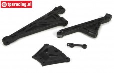 LOSB2558 LOSI 5IVE-T Chassis steun/plaat, Set