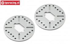 LOSB3234 Aluminium Rem schijf 5T-MINI, 2 st.