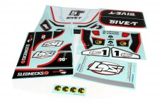 LOSB8256 Stickers, (LOSI 5IVE-T 4WD), (Wit), Set.