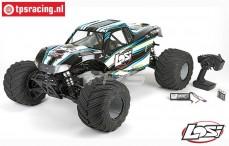 LOS05009T1 LOSI 1/5 MONSTER TRUCK XL 4WD RTR zwart
