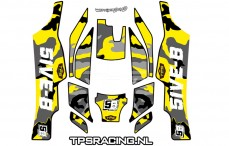 TLR 5B Stickers Geel, Set