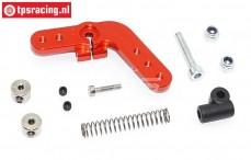 TPS0029/04 Aluminium servo hevel 15T rood DBXL-MTXL, Set