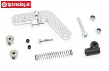Servo hevel TPS, (15T, LOSI DBXL & MTXL Zilver), (Aluminium), Set