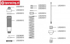 LOS243015 Schokdemper onderhoud LMT Truck, Set