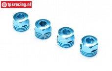 LOS253032 Aluminium Schokdemper dop onder blauw SBR-2.0-SRR, 4 st.
