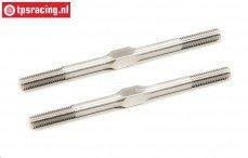 LOSB5911 Titanium Instelstang M6-L96 mm, 2 st.