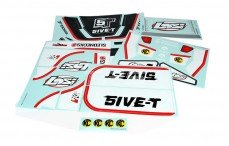 LOSB8255 Stickers, (LOSI 5IVE-T 4WD, Zwart), Set.