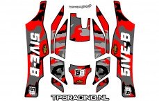 TLR 5B Stickers Rood, Set