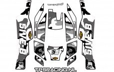 Stickers TPS, TLR 5IVE-B, (Wit), Set