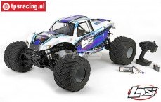 LOS05009T2, LOSI 1/5 MONSTER TRUCK XL 4WD RTR WIT