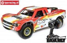 LOS05013T2 1/6 Super Baja Rey 4WD Desert Truck Brushless RTR, Rood
