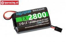 100031MAX2049 Maxpro 2S 2800 mAh LiPo accu, 1 st.