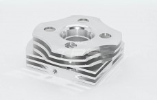 Cilinder kop, (Zilver Aluminium), 1 st.