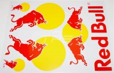 Stickers TPS, (Red Bull groot Geel-Rood 1), 1 st.
