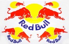 Stickers TPS, (Red Bull Geel-Rood), 1 st.