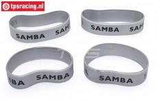 Samba 4810 uitlaat ringen, (Ø60-Ø70 Silver), 4 st.