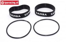 Samba 4811 uitlaat ringen, (Ø60-Ø70, Zwart), Set