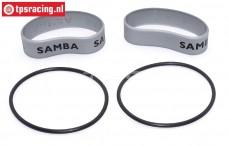 Samba 4811 uitlaat ringen, (Ø60-Ø70), (Zilver), Set