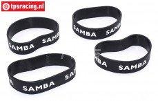 SAM4810Z Samba uitlaat ringen Ø60-Ø70 Zwart, 4 st.