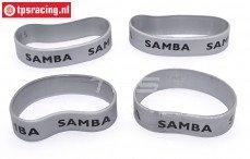 SAM4810S Samba uitlaat ringen Ø60-Ø70 mm Zilver, 4 st.