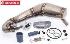 Uitlaat, Samba Racing TLR 5IVE-B, Titanium, Set