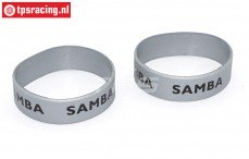 SAM7114S Samba uitlaat ringen Ø50-Ø60 mm Zilver, 2 st.