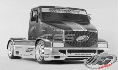FG Super Race Truck, Sports-Line, 4WD-530, (Transparante Kap)