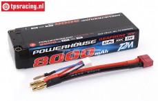 T1380002C 2S LiPo accu Powerhouse 8000 mAh 100C, 1 st.