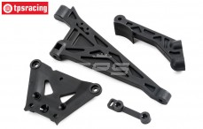 TLR251000 TLR 5B Chassis steun voor-achter, Set