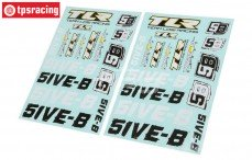 TLR259000, Stickers, TLR 5IVE-B, Set