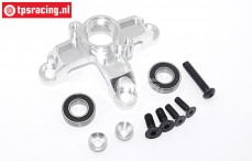 TPS5113/01 Aluminium Koppeling klok houder Zilver, Set