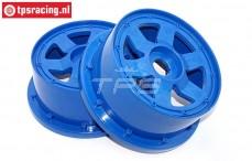 Velg, TPS 6-Spaaks Nylon Blauw, (Ø120-B60 mm), 2 st.