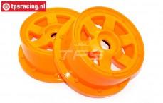 Velg, TPS 6-Spaaks Nylon Oranje, (Ø120-B60 mm), 2 st.